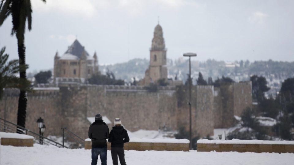 Sněhu v Jeruzalémě bylo podle meteorologů nejvíce za posledních 134 let