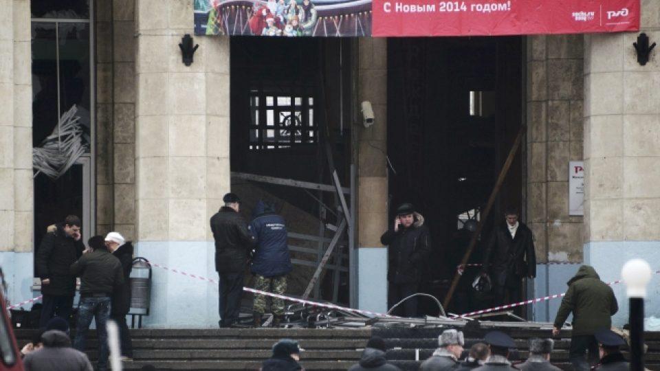 Nádražní hala ve Volgogradě, kde zaútočila sebevražedná atentátnice
