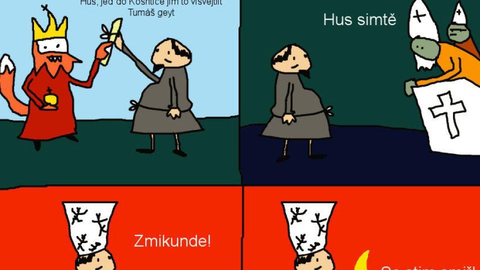 Jak napálili a vipekli Huza