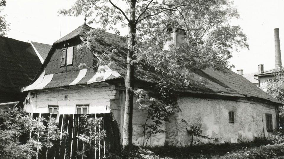 Domek č. p. 158 v 70. letech 20. století