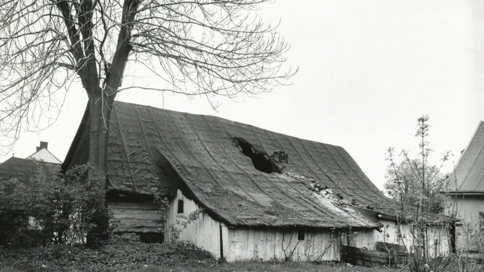 Domek č. p. 134 v 80. letech 20. století
