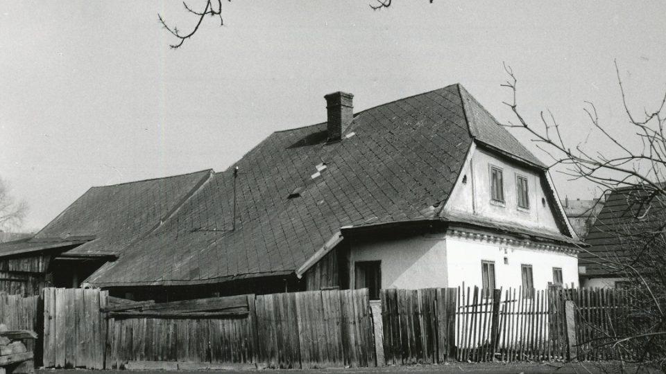 Domek č. p. 178 v 70. letech 20. století
