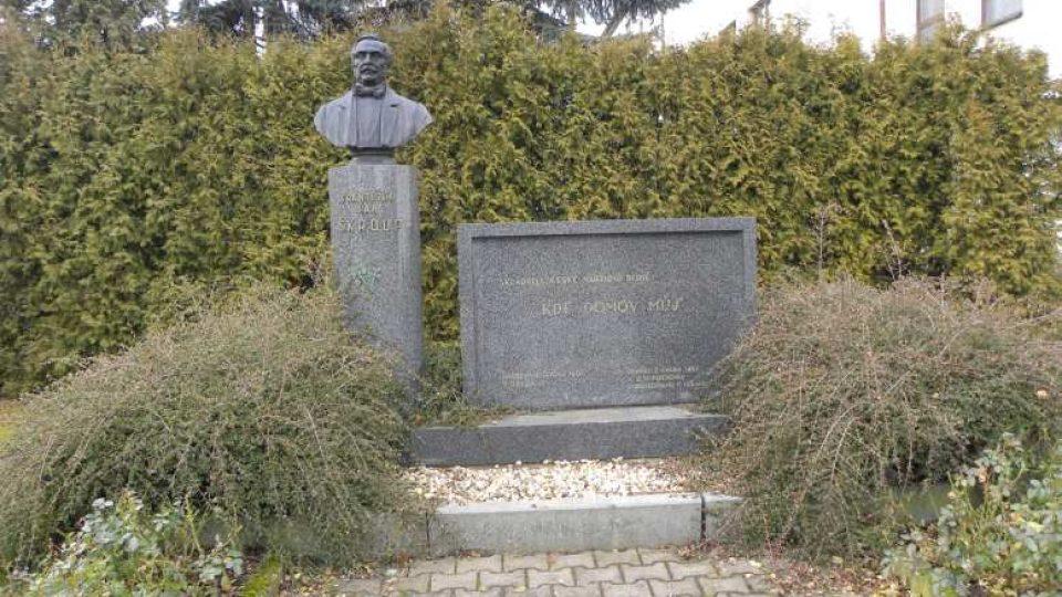 Osice - pomník Františka Škroupa