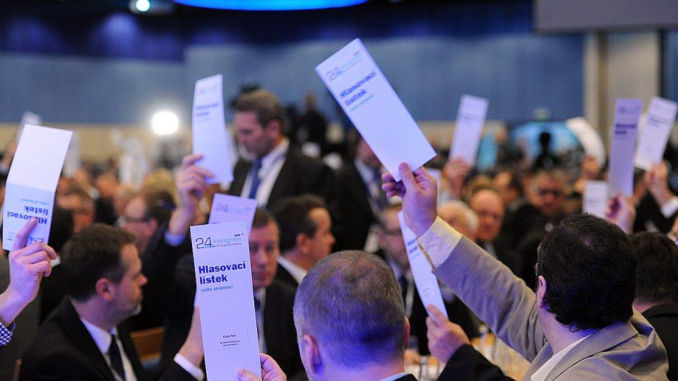 Na volebním kongresu ODS vybírají delegáti nové vedení strany