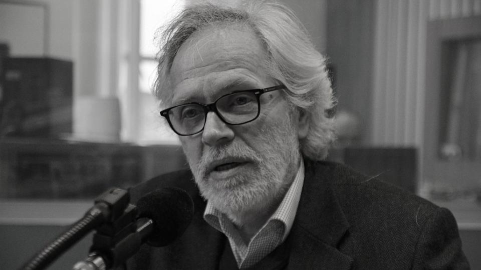 František Kinský ve studiu Českého rozhlasu Hradec Králové