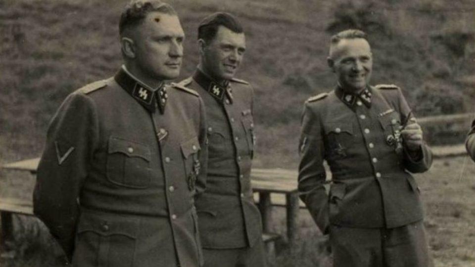 Richard Baer, Dr. Josef Mengele a Rudolf Höss