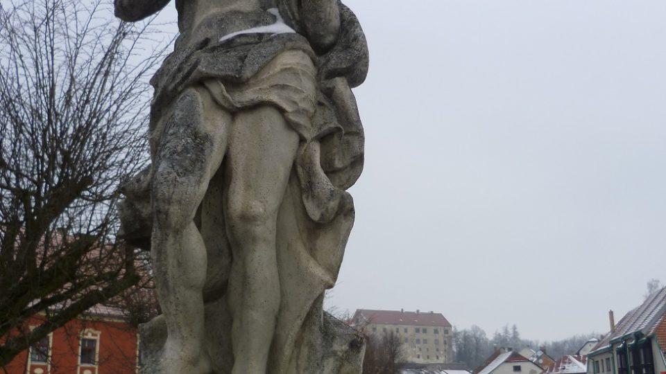 Svatý Jan Křtitel na mostě před brtnickou radnicí