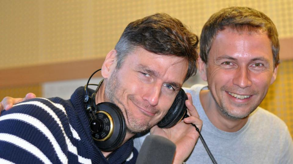 Lumír Olšovský a moderátor Petr Zajíček