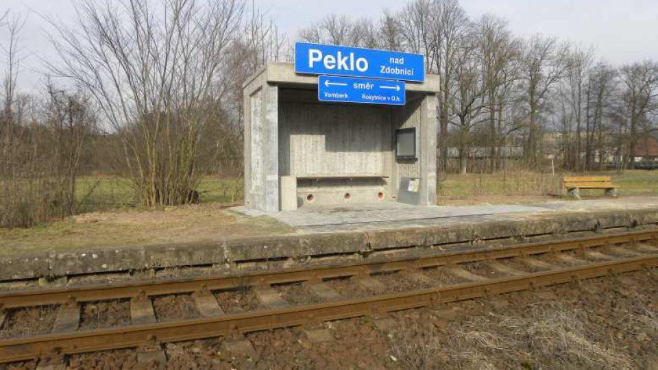 Peklo nad Zdobnicí - železniční zastávka