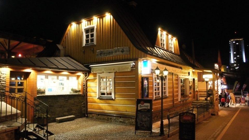 Restaurace Enzian v Peci pod Sněžkou