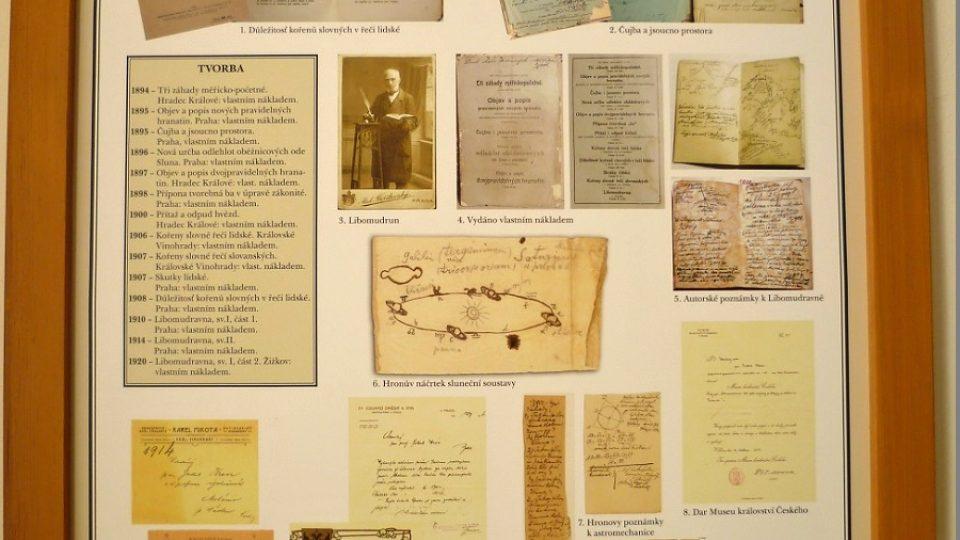 Tabule s výčtem Hronova díla