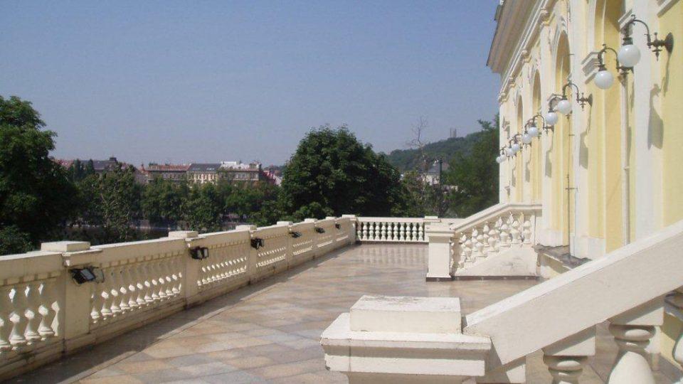 Jedna z žofínských teras