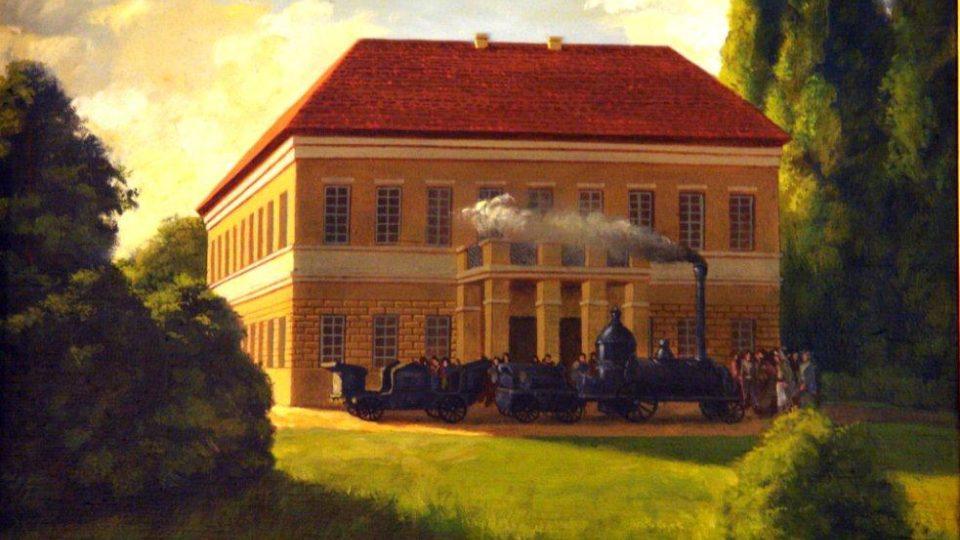 V roce 1841 zde dokonce jezdila na 150 m dlouhé dráze první parní lokomotiva s jedním vozem pro dva pasažéry