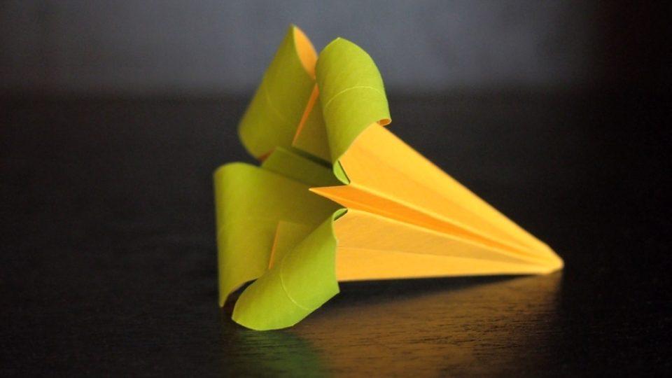 Hotový výrobek - květ kosatce