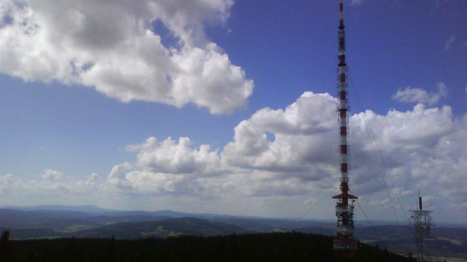 Vysílač na vrcholu Kleti