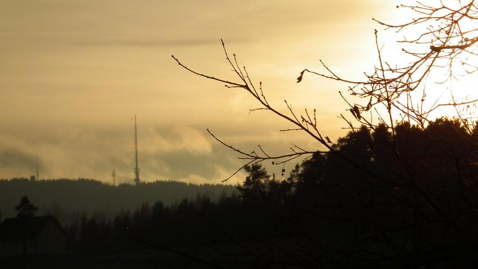 Kleť v západu slunce