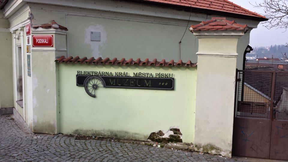 Vodní královská elektrárna v Písku - ulice K Elektrárně