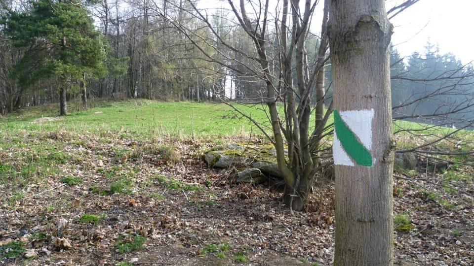 Naučná stezka je označená i turistickou značkou