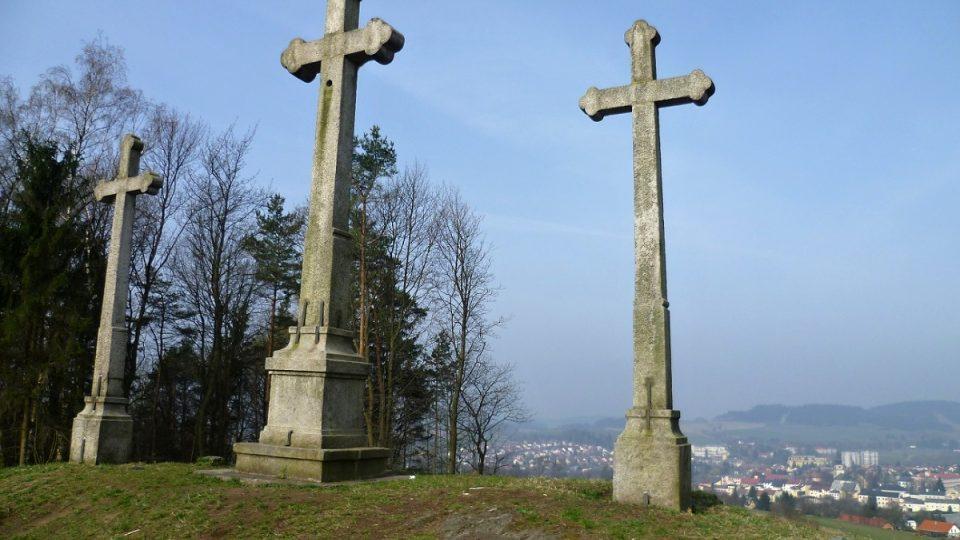 Výhled z vrchu Kaplisko na Nové Město na Moravě