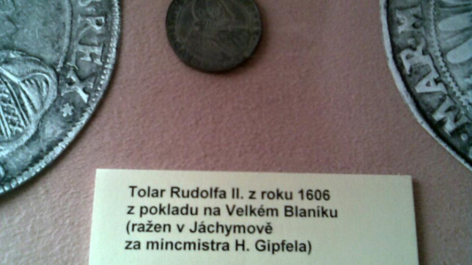 Originál tolaru Rudolfa II. z Blanického pokladu