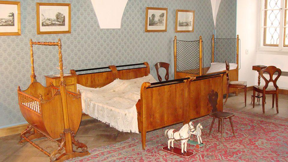 Ložnice Smetanových v rodném bytě Bedřicha Smetany