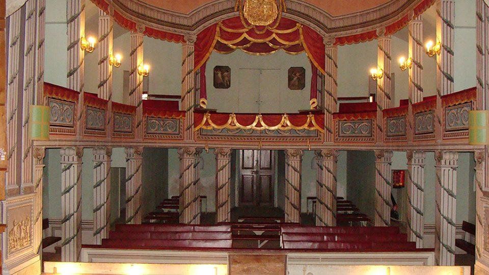 Pohled do hlediště zámeckého divadélka v Litomyšli