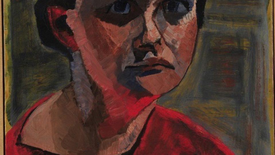 Gertruda Gruberová Goepfertová: Autoportrét, 1952