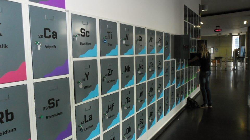 Skříňky podle periodické tabulky