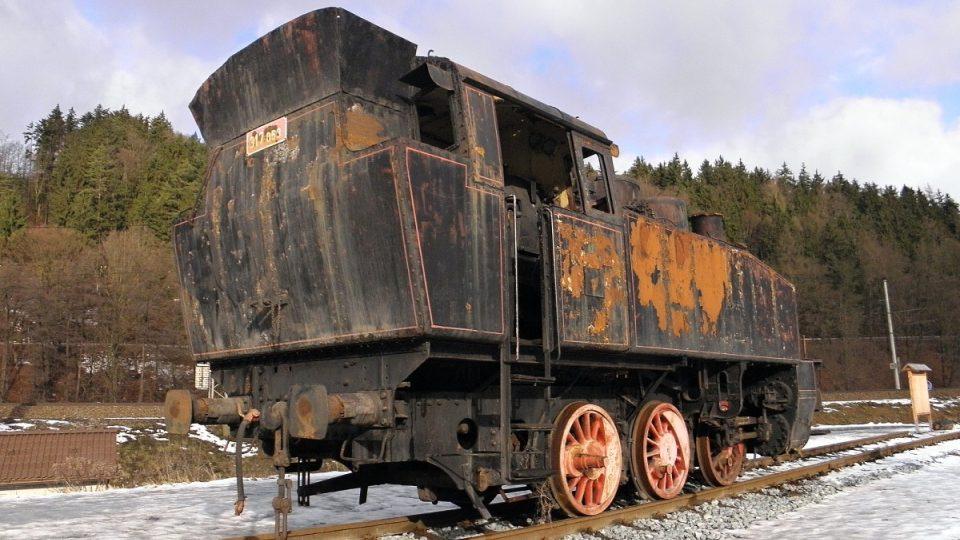 Takto vypadala lokomotiva před opravou