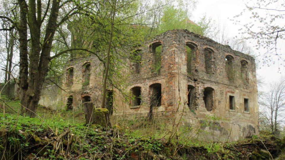 Základy bývalé fary