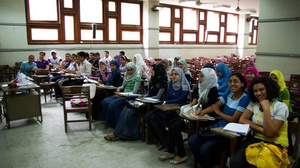 Studenti češtiny v učebně Jazykové fakulty