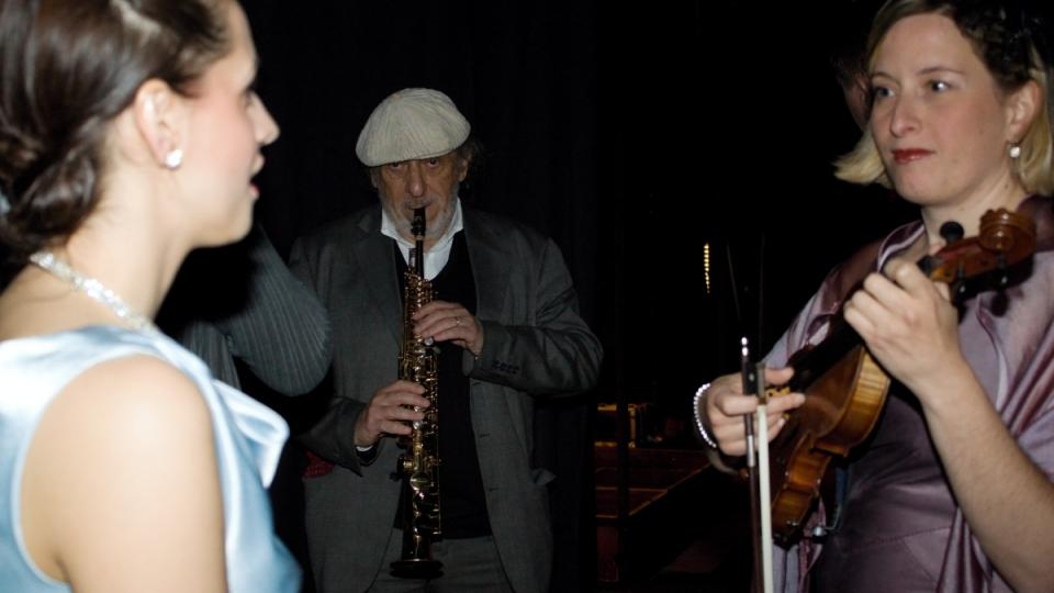 Tobogan, zákulisí, Jiří Stivín a dámy z orchestru Blue Star Václava Marka