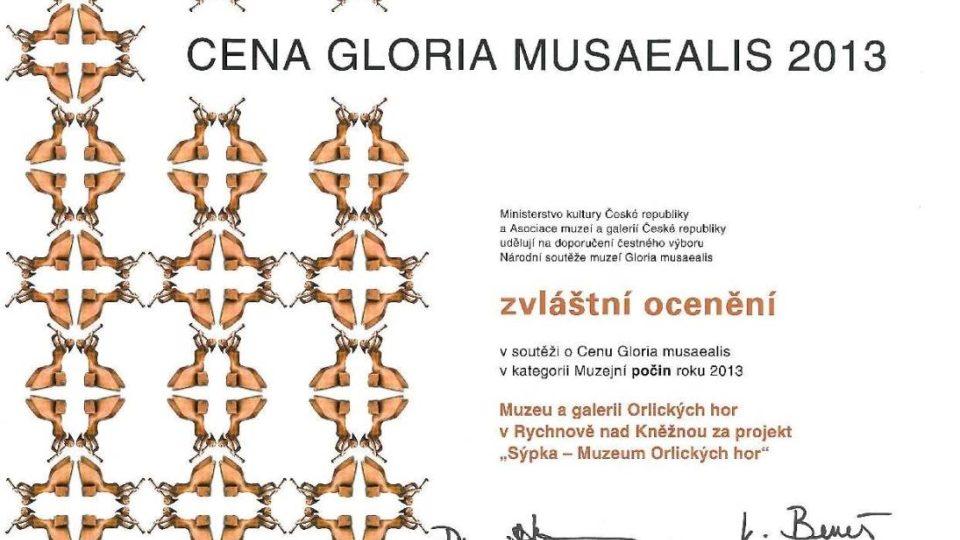 Sýpka – Muzeum Orlických hor získalo ocenění v prestižní národní soutěži Gloria Musaealis