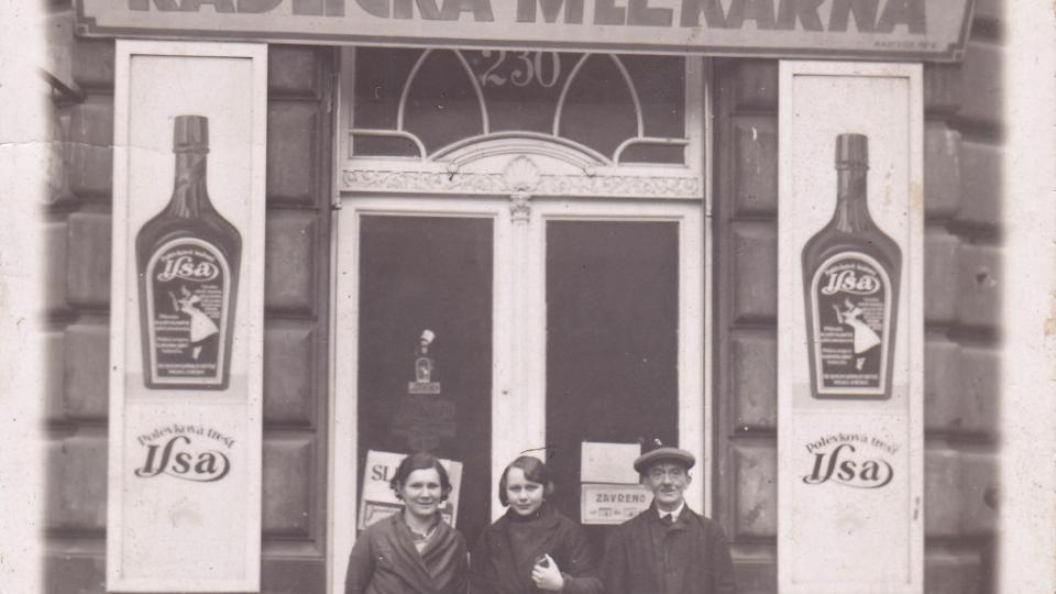 Jedna z prodejen Radlické mlékárny