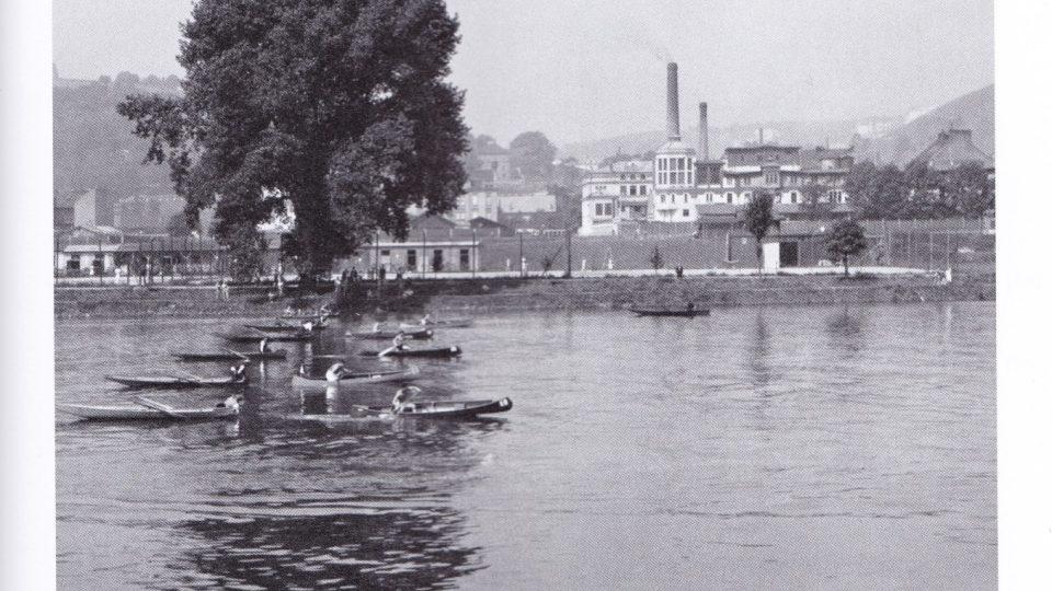 Radlická mlékárna okolo roku 1930