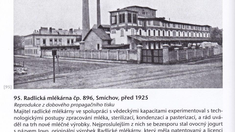 Radlická mlékárna před rokem 1925