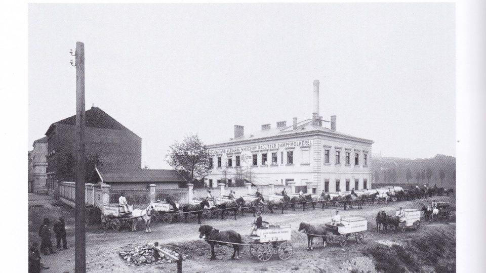 Radlická mlékárna rok 1900