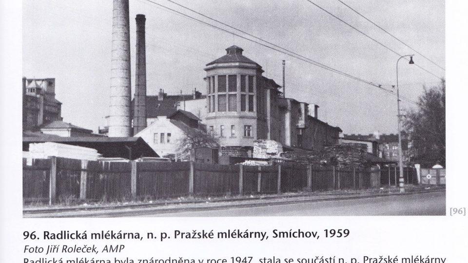 Radlická mlékárna v roce 1959