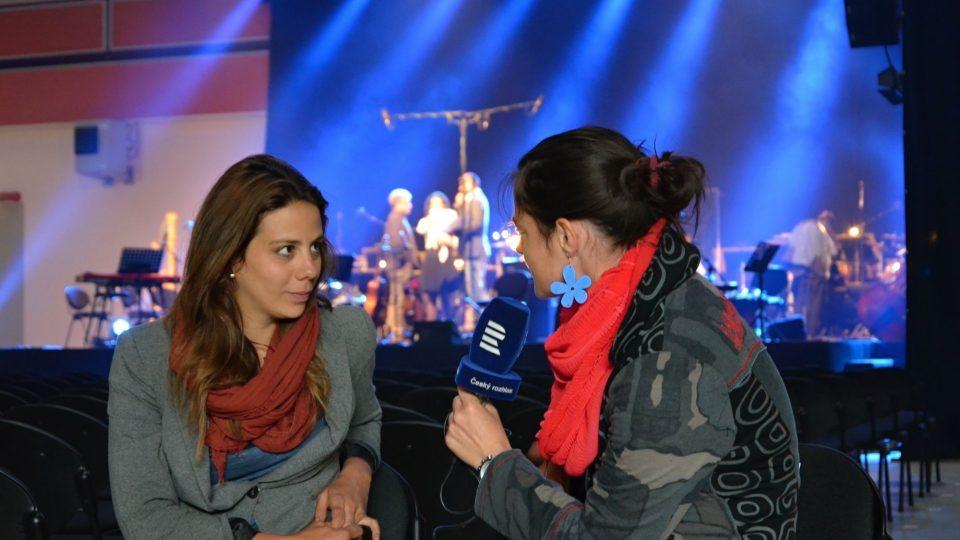Aneta Langerová na zkoušce před koncertem s Jihočeskou komorní filharmonií v Českých Budějovicích hovořila s redaktorkou Romanou Lehmannovou