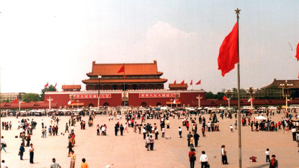 náměstí Nebeského klidu v roce 1988