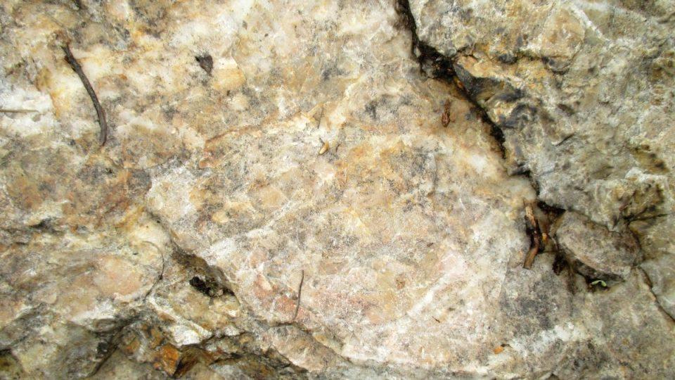 Detail chodvského křemene