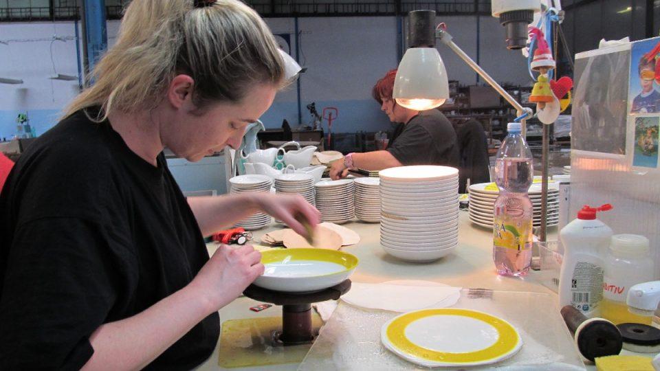 Dekorace talířů obtisky