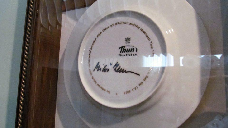 Vzorkovna - památka na prezidentskou návštěvu