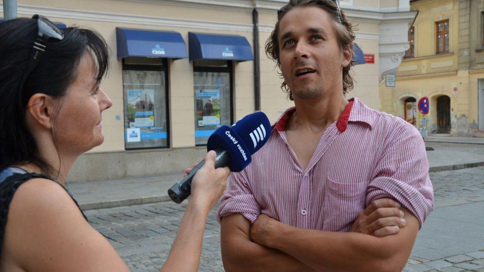 Jakub Flejšar s redaktorkou Pavlou Kuchtovou