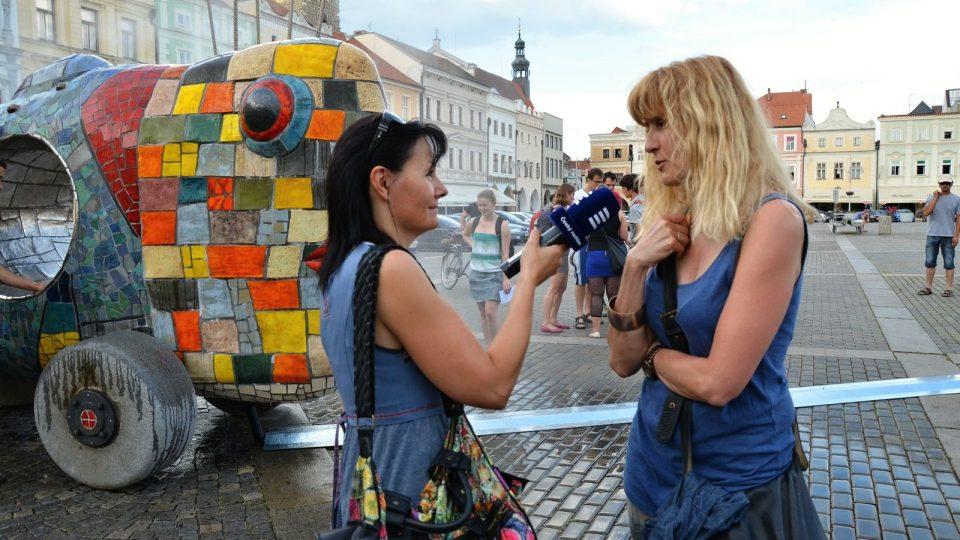 Alexandra Koláčková s redaktorkou Pavlou Kuchtovou