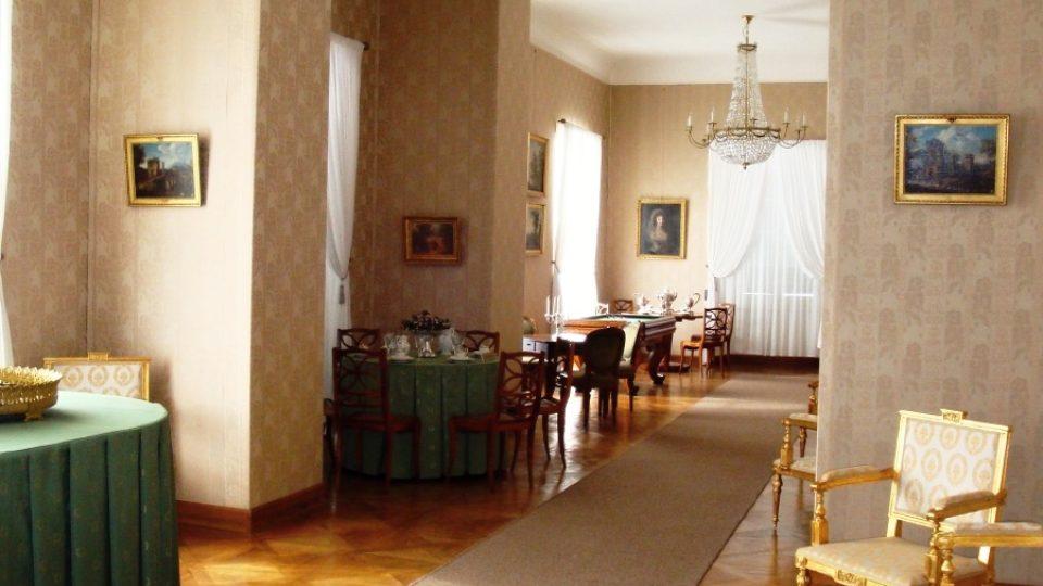 Společenský salon, Zámek Ratibořice