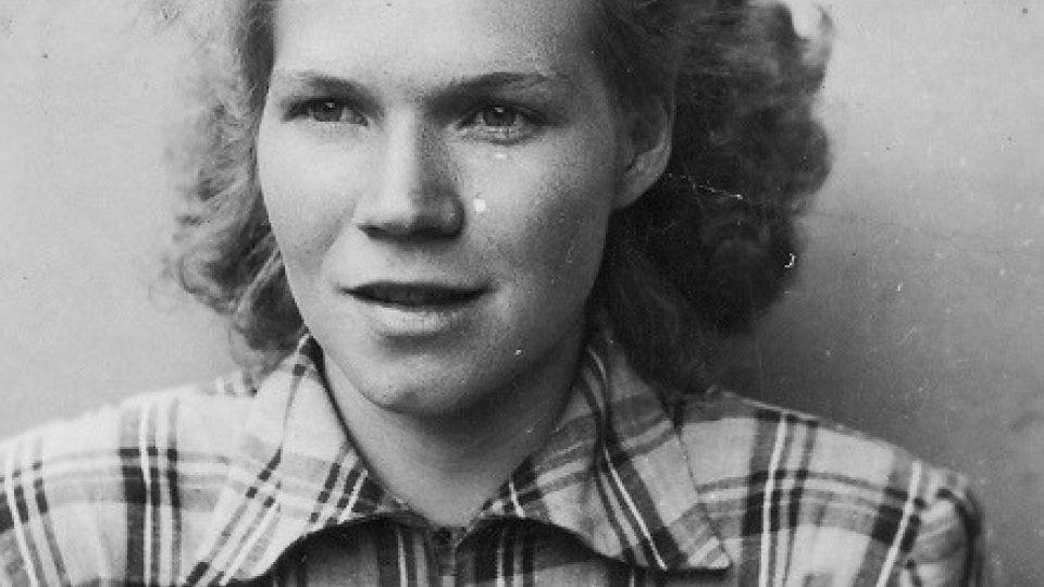 Erika Bednářová v roce 1955