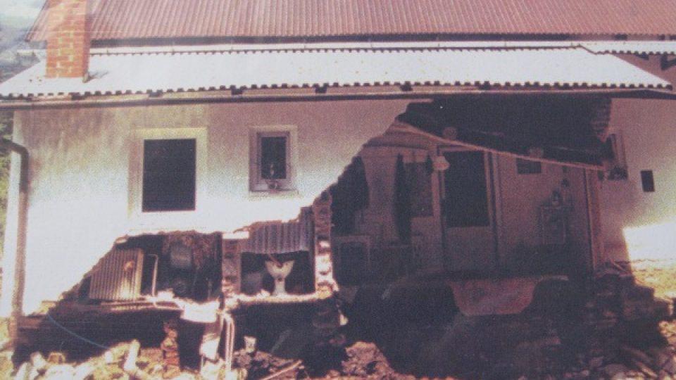 Dům Eriky Bednářové po povodni v roce 1997