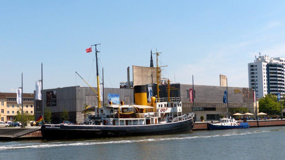Muzeum vystěhovalectví v Bremerhavenu je multimediálním zážitkovým muzeem