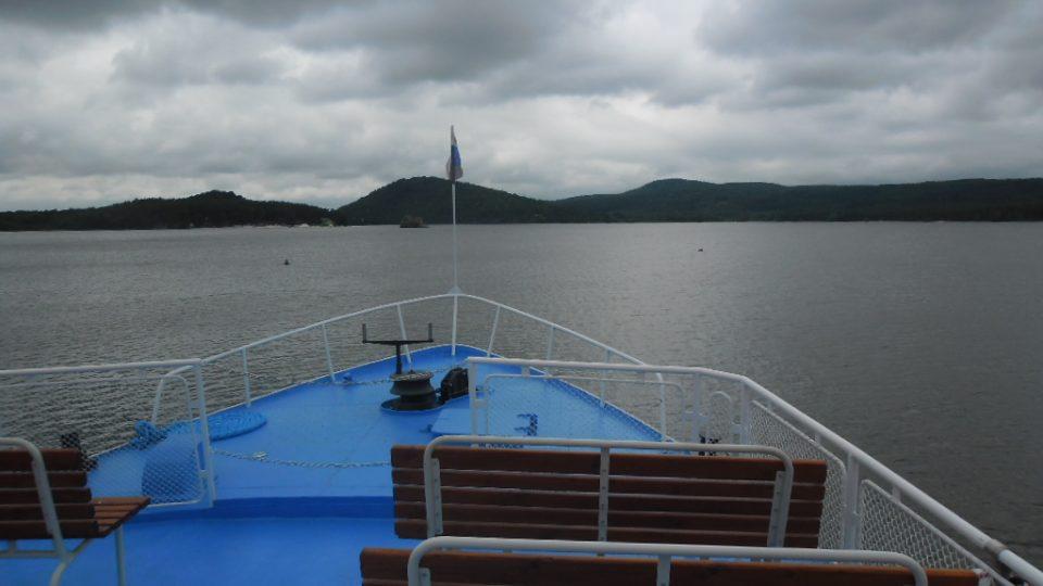 Loď Máj - rozhled z horní paluby